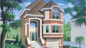 Narrow House Plans with Garage Underneath Narrow Lot House Plans Garage Under Cottage House Plans