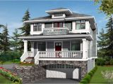 Narrow House Plans with Garage Underneath Two Story House Plans with Balconies and Underground