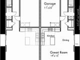 Narrow Lot Home Plans with Rear Garage Narrow Lot Duplex House Plans with Rear Garage D 608