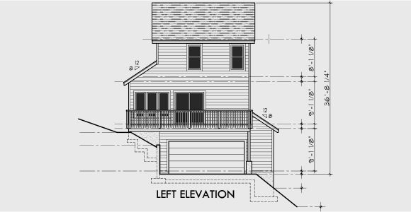 Narrow Lot House Plans with Side Garage Sloping Lot House Plans House Plans with Side Garage