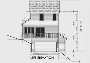 Narrow Lot House Plans with Side Load Garage House Plans with Garage On Right Side