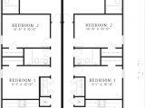 Narrow Lot Multi Family House Plans Narrow Duplex House Plans