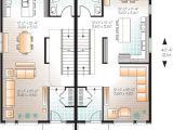 Narrow Lot Multi Family House Plans Narrow Lot Multi Family Home Plan 22327dr 2nd Floor