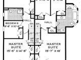 Narrow Lot Multi Family House Plans Three Bedroom Duplex Home Design