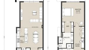 Narrow Two Story Home Plans Floor Plan Friday Narrow Block Double Storey