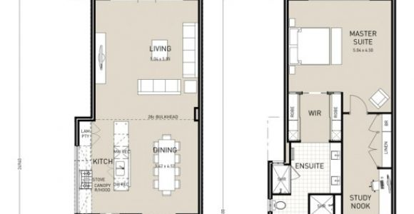 Narrow Two Story Home Plans Floor Plan Friday Narrow Block Double Storey