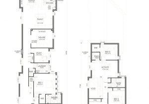 Narrow Two Story Home Plans Narrow Lot Homes Perth 2 Storey House Calista