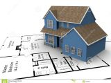 New Home Building Plans New House Plans Stock Illustration Illustration Of Family