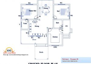 New Kerala Home Plans 3 Bedroom Home Plan and Elevation Kerala Home Design and