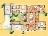 New Mexico House Plans Adobe Style Home with Courtyard Santa Fe Style Meets