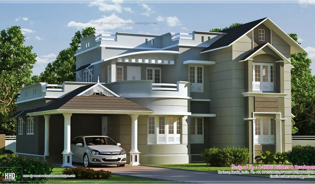 New Style Home Plans In Kerala New Style Home Exterior In 1800 Sq