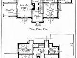 Old Home Plans 1917 House Illustration and Floor Plans Old Design Shop Blog