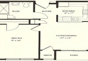 One Bedroom Home Floor Plans 1 Bedroom House Plans 1 Bedroom Floor Plans 1 Bedroom