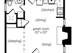 One Bedroom Home Floor Plans Marvelous Small One Bedroom House Plans 9 One Bedroom