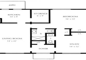 One Bedroom Home Floor Plans One Bedroom Open Floor Plans 1 Bedroom Cottage Floor Plans