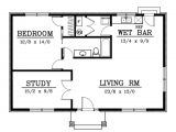 One Bedroom House Plans 1000 Square Feet Cottage Style House Plan 2 Beds 1 00 Baths 1000 Sq Ft