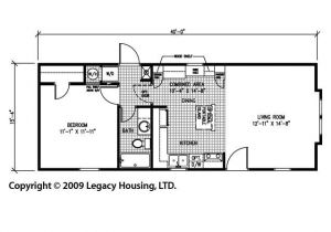 One Bedroom Mobile Home Floor Plans 1 Bedroom Trailer Floor Plans Joy Studio Design Gallery