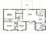 One Floor House Plans 3 Bedrooms 3 Bedroom 1 Floor Plans Simple 3 Bedroom House Floor Plans