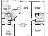 One Floor House Plans 3 Bedrooms 654069 One Story 3 Bedroom 2 Bath Ranch Style House