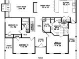 One Floor House Plans 3 Bedrooms 654173 One Story 3 Bedroom 2 Bath Country Style House