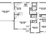 One Floor House Plans 3 Bedrooms One Story Ranch Style House Plans One Story 3 Bedroom 2