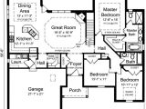One Floor House Plans 3 Bedrooms Plan 39190st One Level 3 Bedroom Home Plan Third