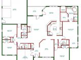 One Level Home Plans Traditional Ranch House Plan Single Level One Story Ranch