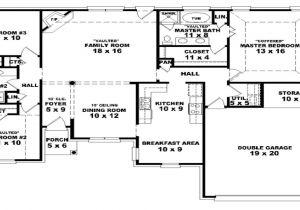 One Level Home Plans with Bonus Room 30 Luxury 4 Bedroom House Plans One Story Bonus Room
