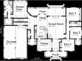 One Level Home Plans with Bonus Room Colonial House Plans Dormers Bonus Room Over Garage Single