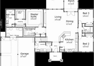 One Level Home Plans with Bonus Room One Story House Plans House Plans with Bonus Room House