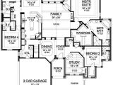 One Level Home Plans with Bonus Room Plan 36226tx One Story Luxury with Bonus Room Above