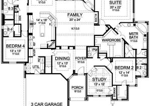 One Level Home Plans with Bonus Room Plan 36226tx One Story Luxury with Bonus Room Above