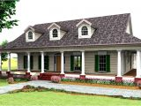 One Level Home Plans with Porches Country Style House Plan 3 Beds 2 5 Baths 2123 Sq Ft
