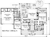 One Level House Plans with Bonus Room Spacious Single Level Home with Bonus Room House Plan