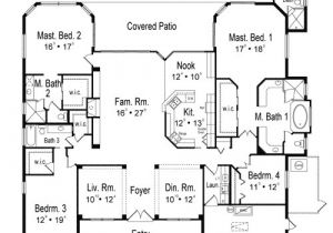 One Level House Plans with Two Master Suites Two Master Bedrooms 63201hd Architectural Designs