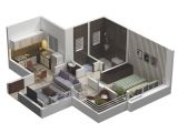One Room Home Plans 25 One Bedroom House Apartment Plans