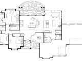 One Story Custom Home Plan Open Floor Plans One Level Homes Single Story Open Floor