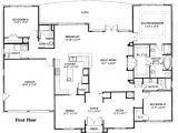 One Story Home Plan Simple One Story House Plan House Plans Pinterest 1 Story