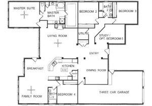 One Story Home Plans 3 Story townhome Floor Plans One Story Open Floor House