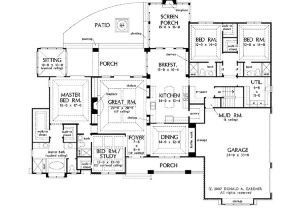 One Story Home Plans Open Floor Plans for Single Story French Country Homes