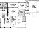 One Story House Plans Under 1600 Sq Ft Country Style House Plan 4 Beds 3 50 Baths 3000 Sq Ft