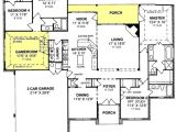 One Story House Plans with 3 Car Garage 655799 1 Story Traditional 4 Bedroom 3 Bath Plan with 3