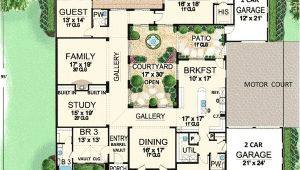 One Story House Plans with Center Courtyard Plan W36118tx Central Courtyard Dream Home E