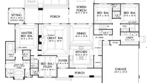 One Story House Plans with Large Kitchens Large One Story House Plan Big Kitchen with Walk In
