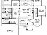 Open Floor Home Plans One Story Open Floor Plans with 4 Bedrooms Generous One