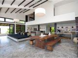 Open Plan Home Design Minimalsit Open Plan Living Space Design Villa Interior
