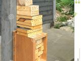 Orchard Mason Bee House Plans Bee House for orchard Mason Bees Royalty Free Stock Photos