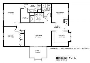 Patio Homes Floor Plans Brookhaven Patio Home Floor Plans
