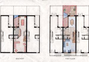 Philadelphia Row Home Floor Plan Rowhouse Plans Modern Joy Studio Design Gallery Best