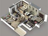 Plan 3d Home 3 Bedroom House Plans 3d Design 3 House Design Ideas